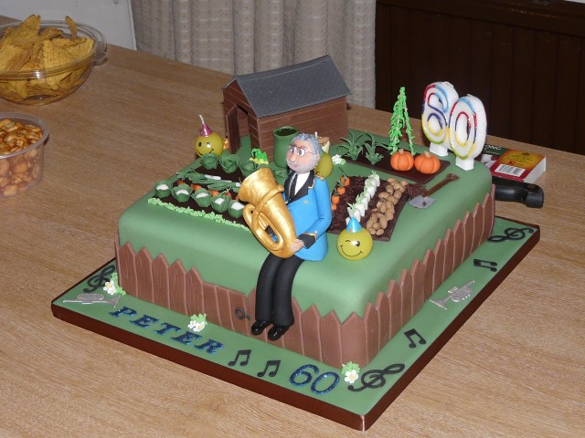 Peter Thomason's birthday cake