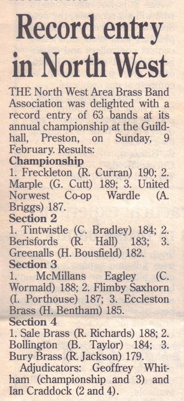 British Bandsman 15 February 1992